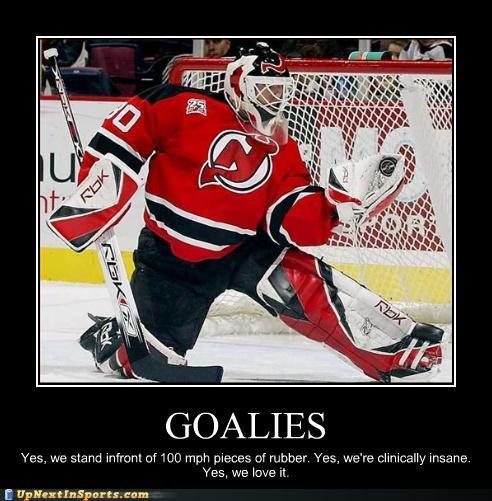 funny hockey goalie